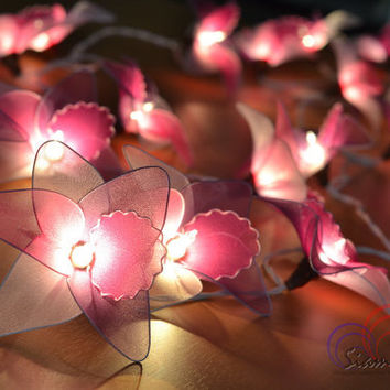 Colorful Fairy Purple Orchid Flowers Lighting Modern Lighting String Lights for home decorate 20 Lights/Set