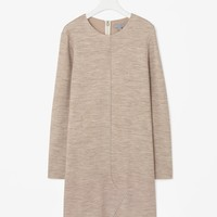 Overlap wool dress