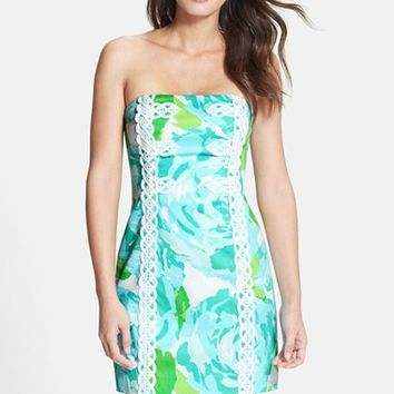 Women's Lilly Pulitzer 'Tansy' Lace Trim Print Strapless Dress