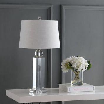 """Charlotte 28.5"""" Crystal LED Table Lamp, Clear by JONATHAN Y 