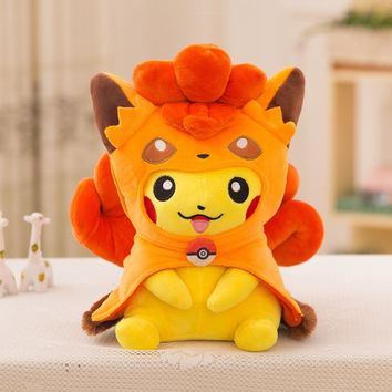 Pocket Monster Anime Pikachu Cosplay Plush Toys Cute Plush Toys Children's Gift Toy Kids Cartoon Peluche Pikachu Plush Doll