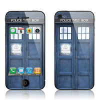 Apple iPhone 4 4S Decal Skin Cover  Doctor Who by skunkwraps