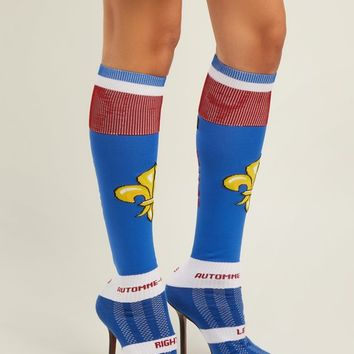 Fleur-de-lis jacquard knee-high sock boots | Vetements | MATCHESFASHION.COM US