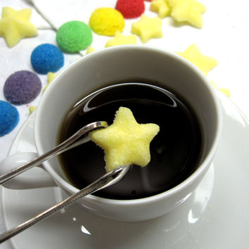 Light Yellow Twinkle Star Shaped Sugar Cubes for Birthday Parties or Baby Shower Teas