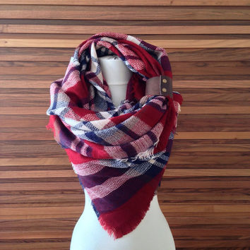 Zara Scarf Blanket Plaid Scarf Oversized Scarf Blanket Tartan Scarf Women Accessory Winter Scarf Birthday Gifts For Her