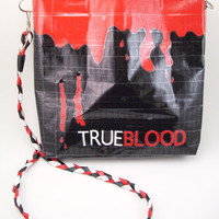 True Blood Purse  Duct Tape  Blood Drip & Fang Bite by PyrateWench