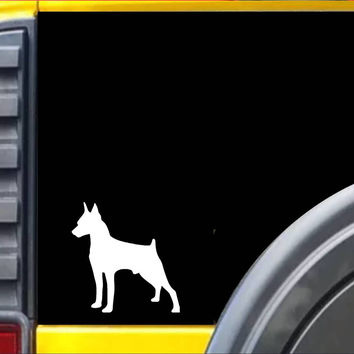 Miniature Pinscher Dog Decal Sticker *J612*