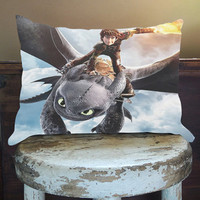 Pillow Case/ Pillow Cover/ Custom Cushion, How To Train Your Dragon 2, One Side/ Two Side By PillowCaseforYou