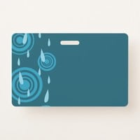Blue Rain Badge