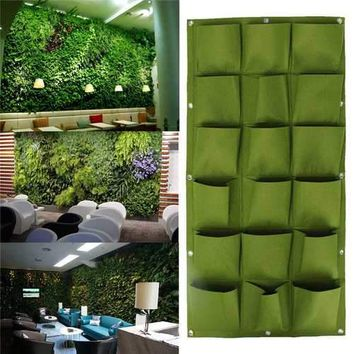 18 Pocket Hanging Vertical Garden Planter Indoor outdoor Decoration Herb Pot