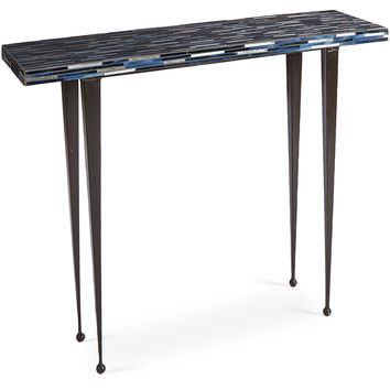 Mosaic Console, Blue, Console Table
