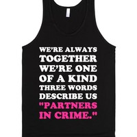 Partners in Crime-Unisex Black Tank