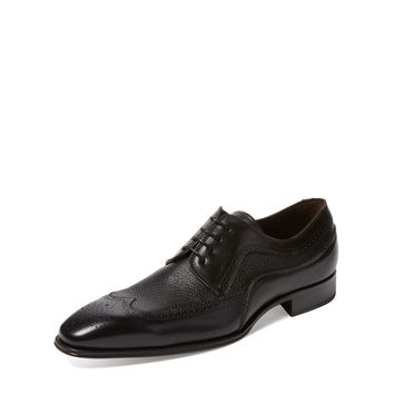 Mezlan Men's Polished Leather Derby - Black -