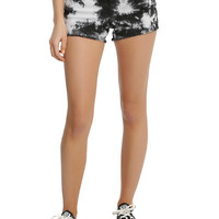 Blackheart Black & White Tie Dye Shorts