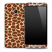 Giraffe Print Skin for the HTC One Phone
