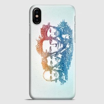 Coldplay Faces Lyrics Design iPhone X Case | casescraft
