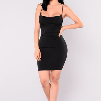 Alexis Mini Dress - Black