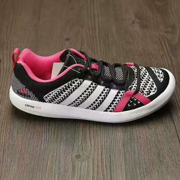 Adidas Wading water shoes Casual Shoes white black rose red knit H-AHXF