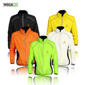 WOSAWE Breathable Cycling Jackets Men Windproof Rainproof Sports Bike Jacket Running Riding Mountain Bicycle Wear Raincoat
