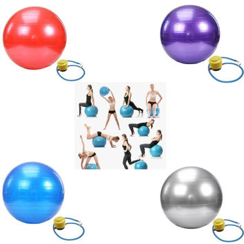 65cm Body Aerobics Pilates Yoga Ball Exercise Home Gym Swiss Fitness Ball With One Free Pump = 1933079044