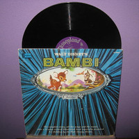 Vinyl Record Album Walt Disney's Bambi Story & Songs LP 1960 Children's Classics