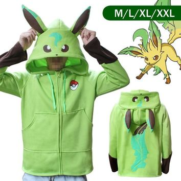Anime  Go Pikachu Umbreon Ears Hoodies for Women Men Cosplay Costumes Adult Unisex Hoody Sweatshirt Plus Size JM503Kawaii Pokemon go  AT_89_9