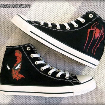 Spider-Man 'New Design' Custom Converse / Painted Shoes