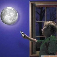 3D LED Moon Wall Lamp