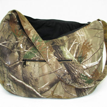 Hobo bag Zipper slouch hobo Purse Camouflage