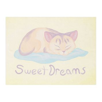 Dreaming Kitten Fleece Blanket