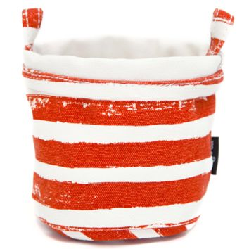 Stripes Tangerine Recycled Canvas Bucket
