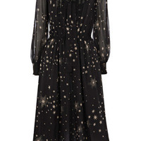 Oasis Formal | Multi Black Star Print Midi Dress | Womens Fashion Clothing | Oasis Stores UK