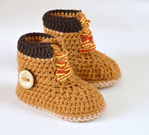 Crochet PATTERN boots for baby boys fall from ...