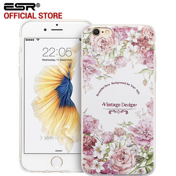 ESR Fashion Woman Girl Case Clear Soft Silicone Secret Garden Cover for iPhone 6/iPhone 6s 4.7""