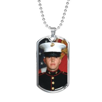 Show Love For Them Personalized Photo Dog Tag and Necklace