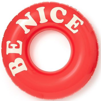 Be Nice Float On Giant Inner Tube Pool Float by Bando
