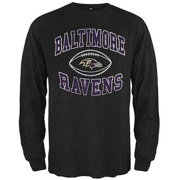Baltimore Ravens - Logo Scrum Premium Long Sleeve T-Shirt