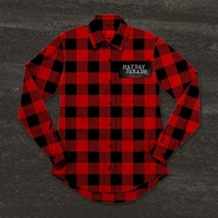 Plaid Logo Red W/ Black : FEAR : Mayday Parade