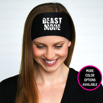 Beast Mode Headband | Workout Headband | Fitness Headband | Running Headband | Beast Mode Graphic Design Headband