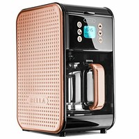 Bella Housewares | Dots Collection 2.0 12-Cup Programmable Coffee Maker, Black and Copper in Collections Coffee Makers and Coffee and Tea and kitchen appliances, colorful appliances, toasters, juicers, blenders