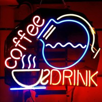 Coffee Cafe Drink Neon Sign Real Neon Light