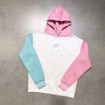 DCCKBA7 Nike limited edition Ice cream Color Splicing Hoodie Top Sweater Pullover