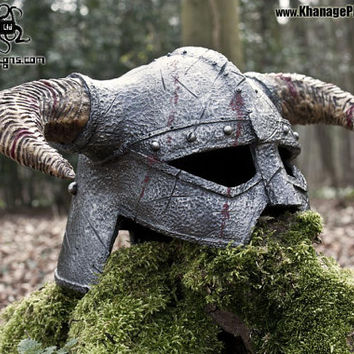 Horned Helmet Prop Display Costume Larp  Cosplay Fantasy Dragon Viking
