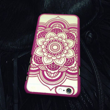 Beautiful Paisley Mandala Palace Flower Phone Case For iPhone7 7S 7 7Splus iphone 5 5s SE 6 6s 6 plus 6s plus + Nice gift box 072301