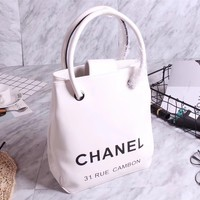 CHANEL WOMEN NEW STYLE CAMBON LEATHER HANDBAG