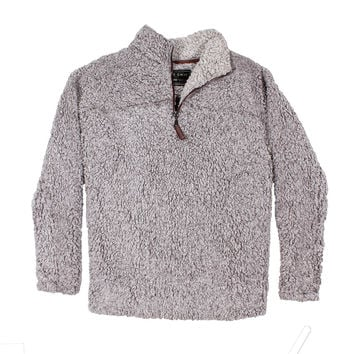 Pre-Order Frosty Tipped Pile 1/2 Zip Pullover in Heather by True Grit