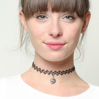 SILVER SUN CHOKER NECKLACE