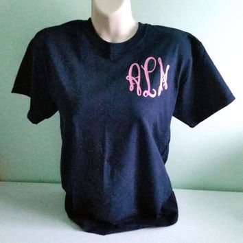 Fancy Monogram Short Sleeve Shirt. Fancy Monogram. Monogrammed Shirt. Tshirt. Shirt. Fancy. Bridesmaid Gift. Wedding. Short Sleeve Shirt.