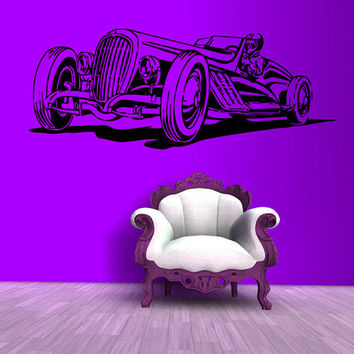 Wall Decals Hot Classic Retro Sports Car Auto Interior Design Living Room Home Vinyl Decal Sticker Boy Kids Nursery Baby Room Decor kk815