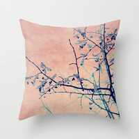 winter whispers Throw Pillow by Ingrid Beddoes